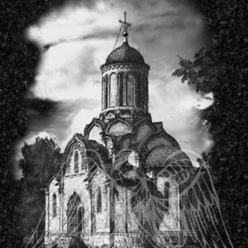 Гравировка с изображением храма 4