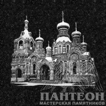 Гравировка с изображением храма 5