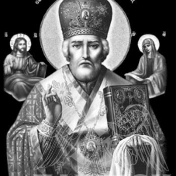 Гравировка Сви. Николай Мирлики́йский Чудотворец