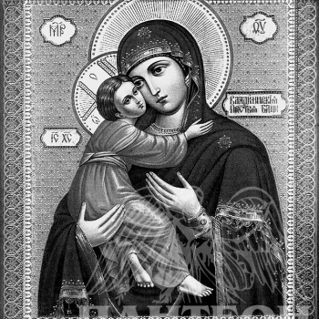 Гравировка иконы Божьей Матери