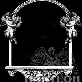 Гравировка рамка с ангелочками