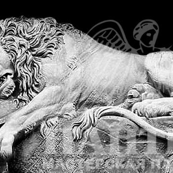 Гравировка изображения льва