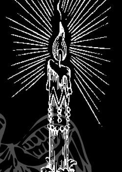 Гравировка изображения свечи 2