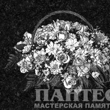 Гравировка букет цветов
