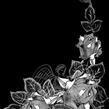 Гравировка орнамент из роз