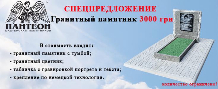 Гранитный Памятник за 3000 гривен